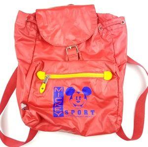 Vintage Disney Micket Mouse Mickey Sport Backpacks